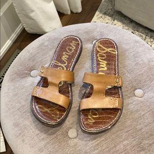 Sam Edelman Brown Leather Slides Size 7